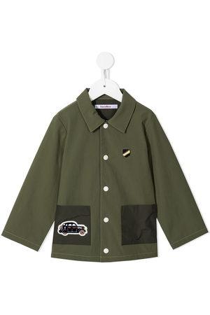 Familiar Boys Blazers - Embroidered car motif shirt jacket