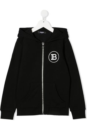 Balmain Girls Hoodies - Logo print hoodie