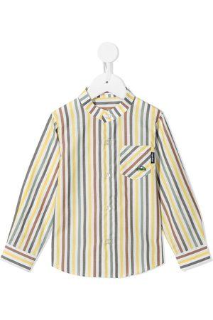 Familiar Striped long-sleeved cotton shirt - Multicolour