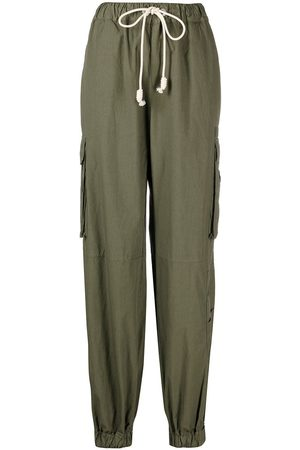 Palm Angels Women Cargo Pants - Drawstring cargo trousers