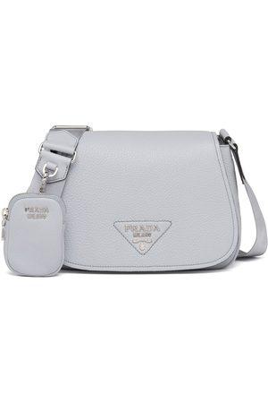 Prada Women Shoulder Bags - Leather shoulder bag - Grey