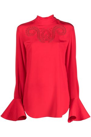 Patou Women High Necks - High-neck silk blouse