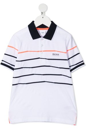 HUGO BOSS Horizontal stripe-print polo shirt