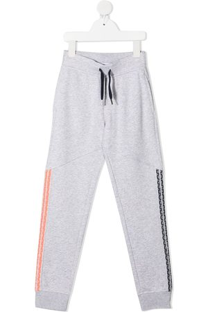 HUGO BOSS Logo-tape detail joggers - Grey