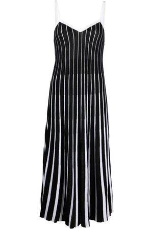 RED Valentino Knitted striped midi dress
