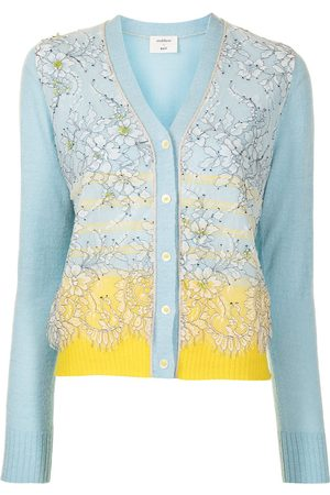 Onefifteen Floral tulle striped cardigan