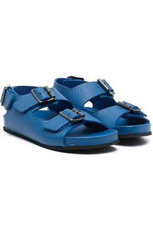 GALLUCCI Grained-leather buckle sandals