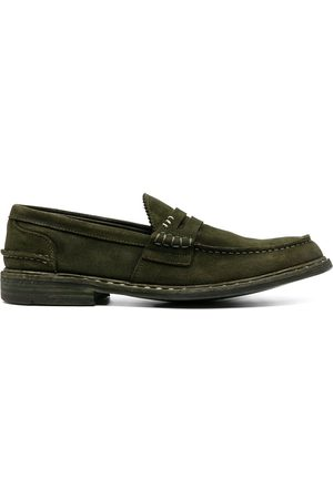 Premiata Men Loafers - Contrast-stitching suede loafers