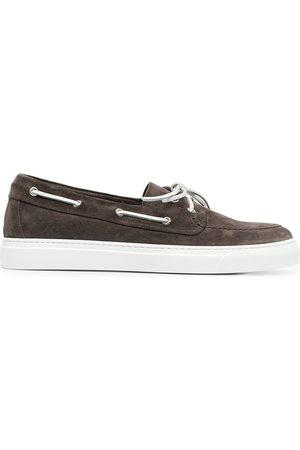 HENDERSON BARACCO Lace detail boat shoes