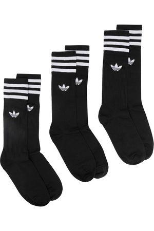 adidas Men Socks - Signature three stripe 3 pack socks