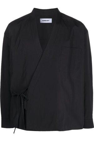 AMBUSH Wrap-front kimono shirt