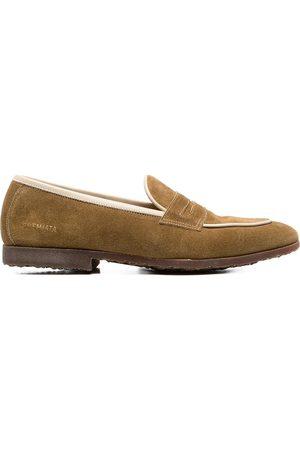 Premiata Men Loafers - Contrast-trim suede loafers - Neutrals
