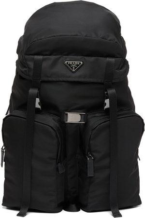 Prada Men Rucksacks - Re-Nylon multi-pocket backpack
