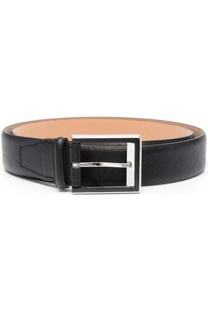 Calvin Klein Men Belts - Debossed monogram logo belt
