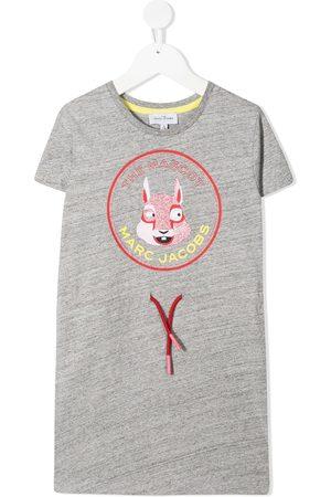 The Marc Jacobs Girls Casual Dresses - Logo print T-shirt dress - Grey