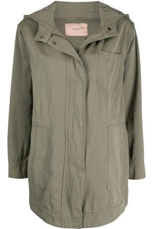 Twin-Set Hooded long-sleeve jacket