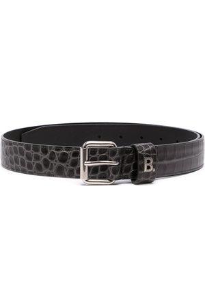 Balenciaga Logo-plaque crocodile-effect belt