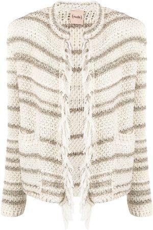 NUDE Striped fringe-trimmed jacket