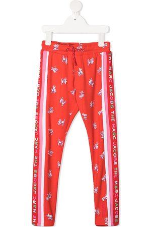 The Marc Jacobs Girls Sweatpants - Graphic-print drawstring track pants