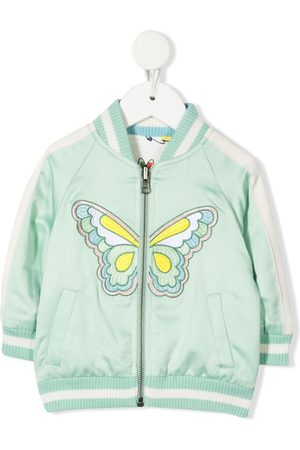 Stella McCartney Butterfly-embroidered bomber jacket