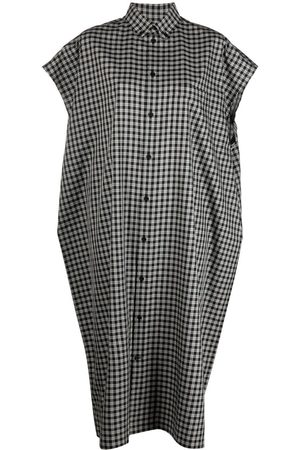 Balenciaga Check-pattern midi shirtdress