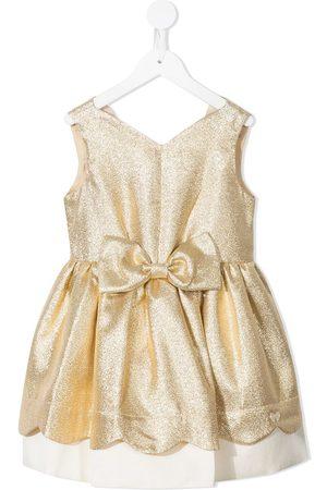 HUCKLEBONES LONDON Metallic-effect bow-detail dress