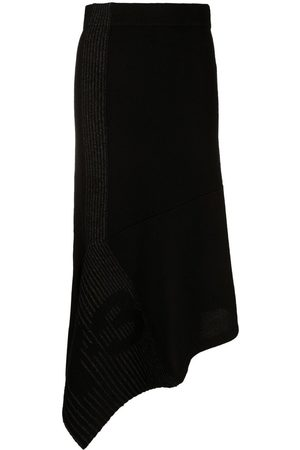 Y-3 CH1 asymmetric knitted skirt