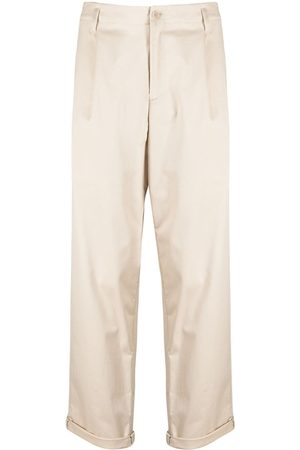 Neil Barrett Turn-up hem straight-leg trousers - Neutrals