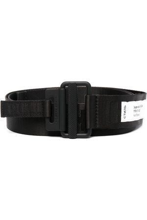 Heron Preston Belts - Logo-patch buckled belt