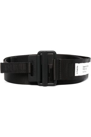 Heron Preston Logo-patch buckled belt