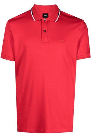HUGO BOSS Striped-collar polo shirt