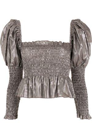 NK Puff sleeves metallic blouse