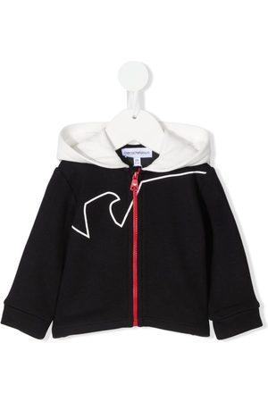 Emporio Armani Hoodies - Logo-print zipped hoodie