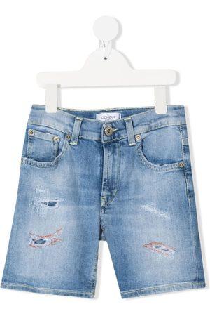 DONDUP KIDS Boys Shorts - Distressed denim shorts