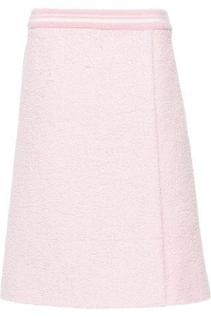 Miu Miu Terry stripe trim skirt