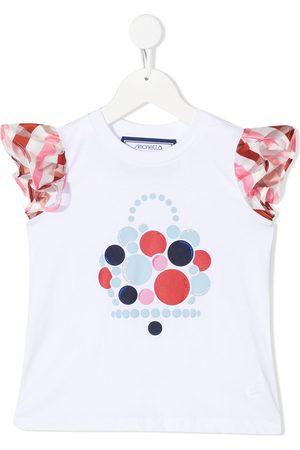 Simonetta Gingham-print short-sleeve T-shirt