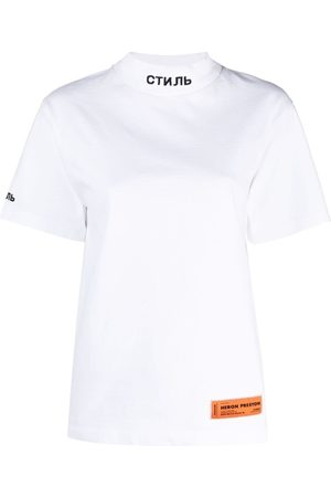 Heron Preston Motif-embroidered logo-patch T-shirt