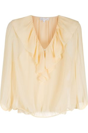 NK Silk ruffled blouse