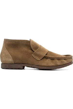 Premiata Ankle-length suede loafers - Neutrals