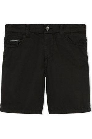 Dolce & Gabbana Logo-patch poplin shorts