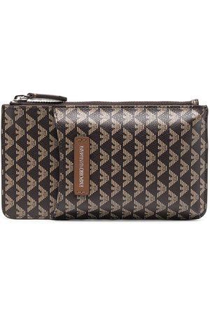 Emporio Armani Women Wallets - Monogram-print leather purse