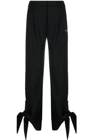 OFF-WHITE Tie-cuff straight-leg trousers