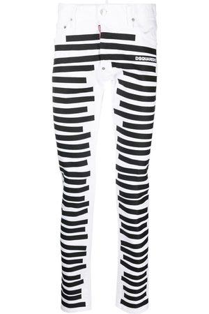 Dsquared2 Stripe-print skinny jeans