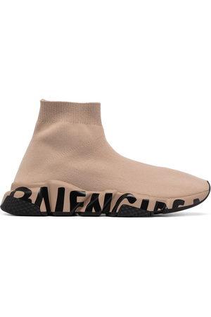 Balenciaga Women Sneakers - Speed graffiti-sole sneakers