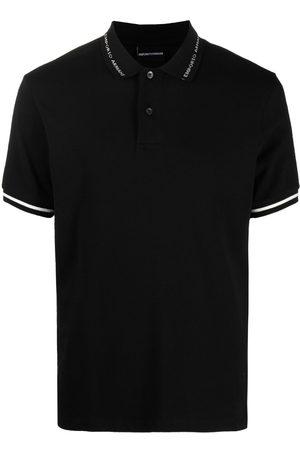Emporio Armani Men Polo Shirts - Logo-printed collared polo shirt