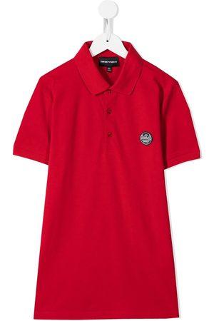 Emporio Armani Polo Shirts - TEEN patch-embellished polo shirt