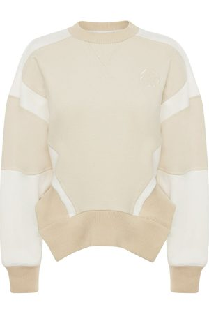 Alexander McQueen Cropped panelled sweatshirt
