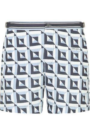 Dolce & Gabbana Men Swim Shorts - Majolica print drawstring swim shorts