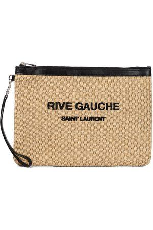 Saint Laurent Rive Gauche raffia pouch