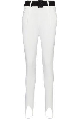 Self-Portrait Belted high-rise skinny stirrup pants